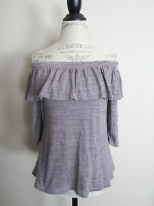 5f39dc33a094a Image is loading Anthropologie-Dolan-Charla-Ruffle-Off-The-Shoulder-Purple-