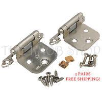 Amerock Satin Nickel Variable Overlay Flush Cabinet Door Hinge 25 Pairs 7139g10 Building Supplies