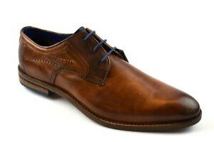 Details zu Bugatti Herren Hand finish Business Schuhe Cognac Gr.43