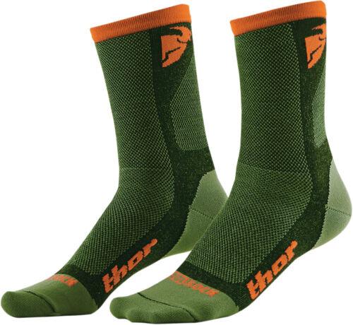 Green//Orange THOR MX Motocross 2016 Mens Dual Sport Cool Socks Choose Size