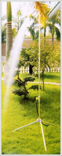 DOCCIA da giardino in alluminio XL fino a 225cm-ASTA TELESCOPICA grande soffione doccia doccia da giardino