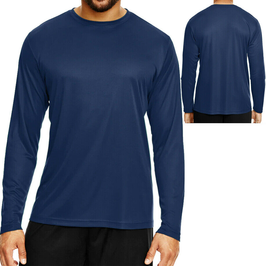 Mens Long Sleeve Moisture Wicking Athletic Sport Training T-Shirt Clothe Co