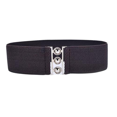 Eg /_ Fascia Elastica Metallo Sfera Fibbia Donna Cintura Vestiti Corsetto Sple