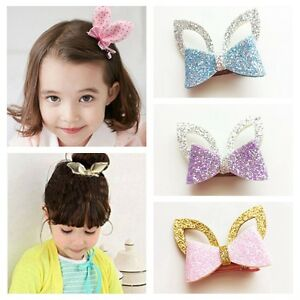 1PC Cute Rabbit Ears Headwear Kids Girls Baby Hair Clips Hairpins ... 21093b19484