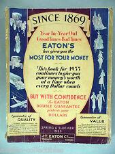 T. Eaton CATALOG - Spring/Summer, 1933 ~~ Toronto, Canada