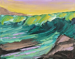 Pacific-Rocks-Five-Original-Expression-Seascape-Oil-Painting-8x10-091418-KEN