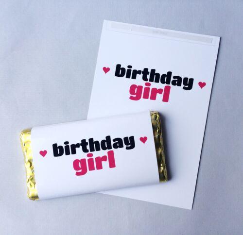 DAUGHTER FRIEND GALAXY CHOCOLATE BAR WRAPPER BIRTHDAY GIRL SISTER