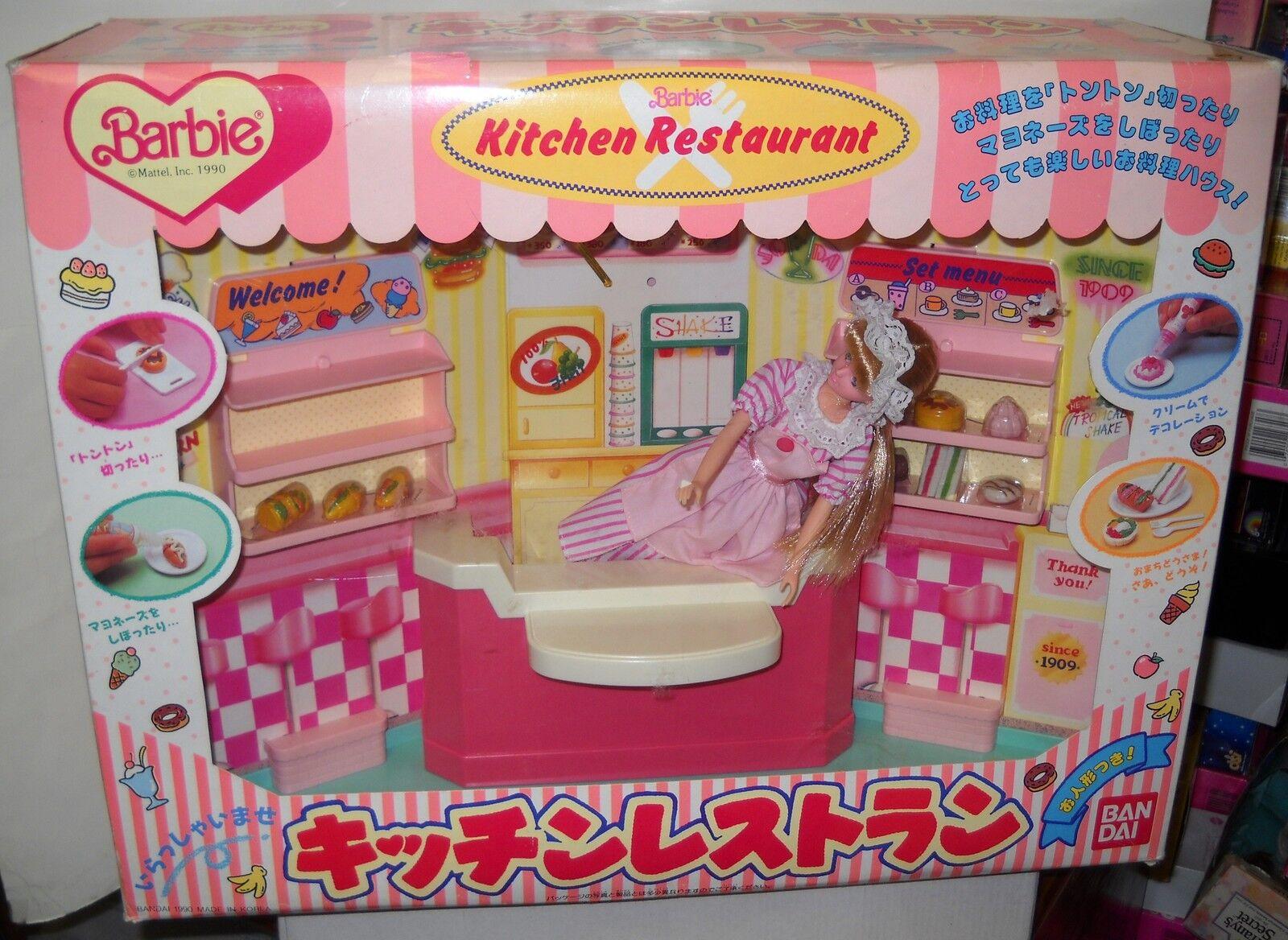 Raro Nuevo En Caja Mattel Ban Dai Japón Barbie Cocina Restaurante