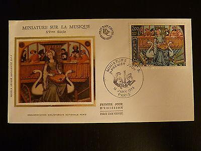 Music France Premier Jour Fdc Yvert 2033 Miniature Sur La Musique 2f Paris 1979 An Indispensable Sovereign Remedy For Home Stamps