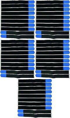 50 Bridas Cierre De Velcro 50 Cm X 50 Mm Azul Cinta De Velcro Klettkabelbinder Ojal-s 50 Cm X 50 Mm Blau Klettband Klettkabelbinder Öse Es-es Larga Vida De Rendimiento