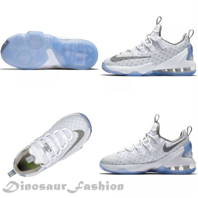 c32b1ac723741 Nike Lebron XIII Low GS 13 James White Silver Kids Youth Basketball ...