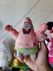 7 Inch Ty Beanie Baby ~ PATRICK STAR Spongebob Squarepants MWMT