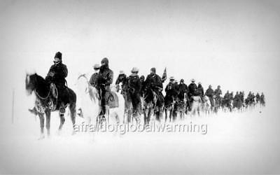 1890 South Dakota Soldiers Returning From The Battle at Wounded Knee Photo