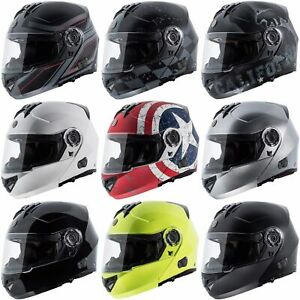 Torc-T27B-Modular-Bluetooth-Street-Motorcycle-DOT-Helmet-Full-Face-Dual-Visor