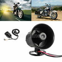 12v 6 Sound Siren Horns Car Motorcycle Police Megaphone Siren Speaker With Mic