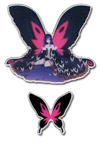 **Legit** Accel World Black King Kuroyukihime /& Butterfly Anime Pin Set #50074