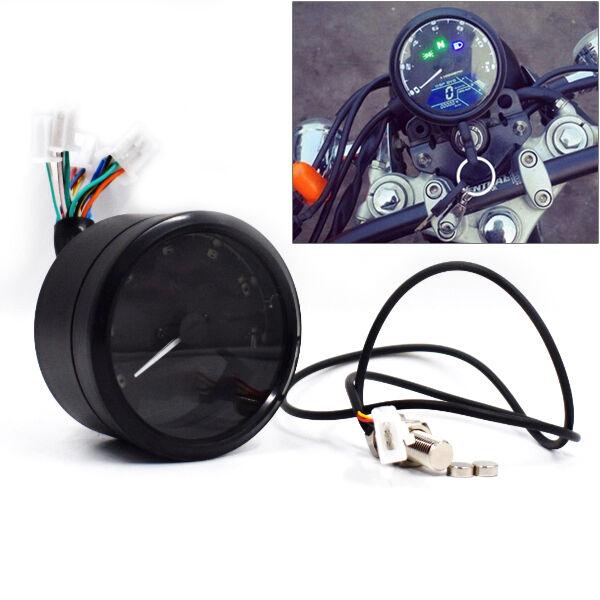 12000 Rmp Kmh Universal Lcd Digital Odometer Speedometer