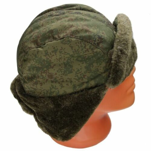 Authentic Russian Green Army Ushanka Winter Hat New Arrival