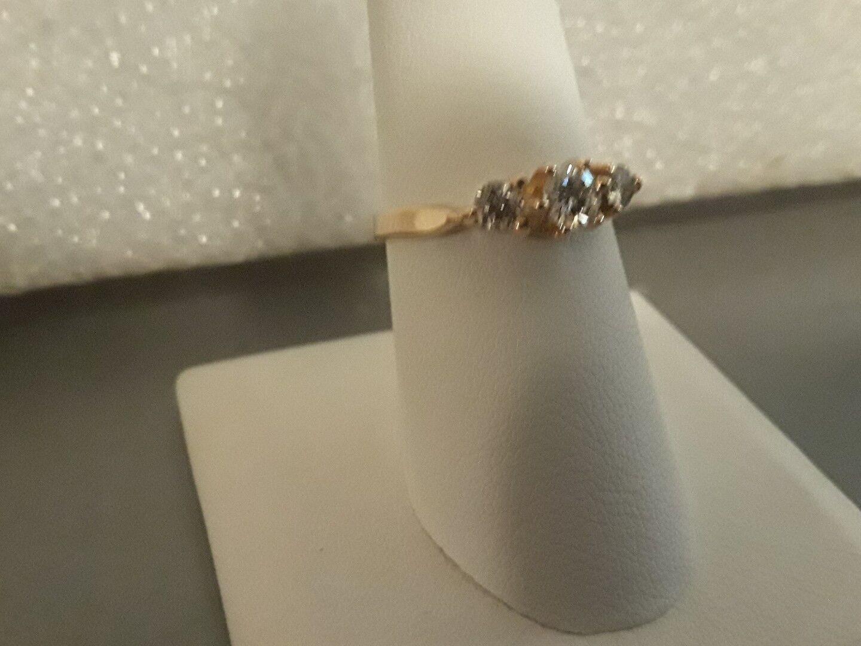 18 kt yellow gold diamond ring 0.45 carats