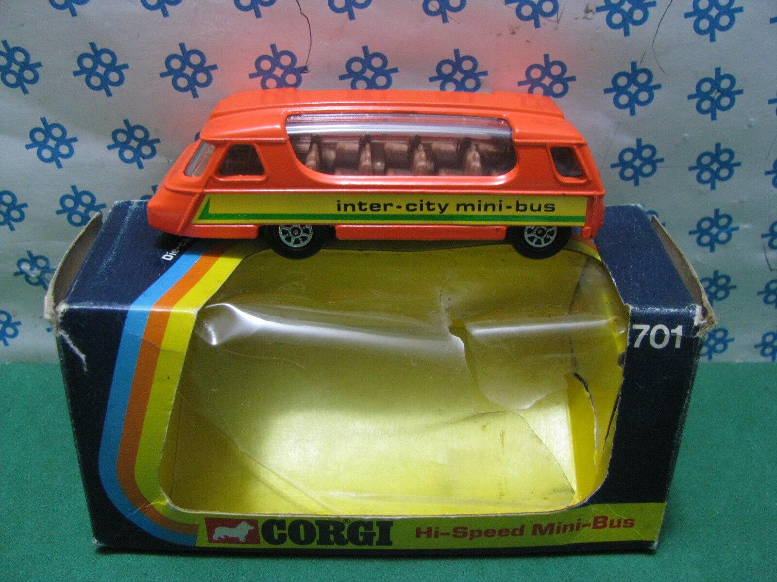 Vintage Corgi Toys 701 - Mini Bus - Fabriqué en Gt. Britain 1973