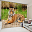 3D Tiger grass6 Blockout Photo Curtain Printing Curtains Drapes Fabric Window AU