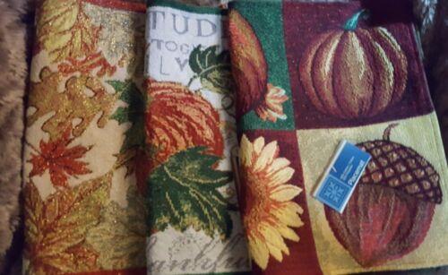Automne Autumn tissé tapisserie NAPPERONS Lieu Tapis Choisir parmi 3 Designs