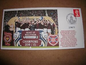 HEART-OF-MIDLOTHIAN-SPFL-CHAMPIONS-2015-FIRST-DAY-COVER