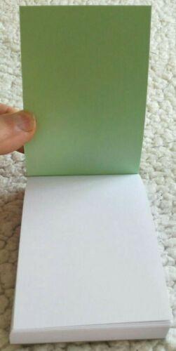 100 sheets per pad. 100 X A6 PLAIN WHITE PAPER MINI JOTTER NOTE PADS MEMO