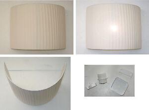 Lampada parete applique a muro paralume mezzaluna mezzo cilindro