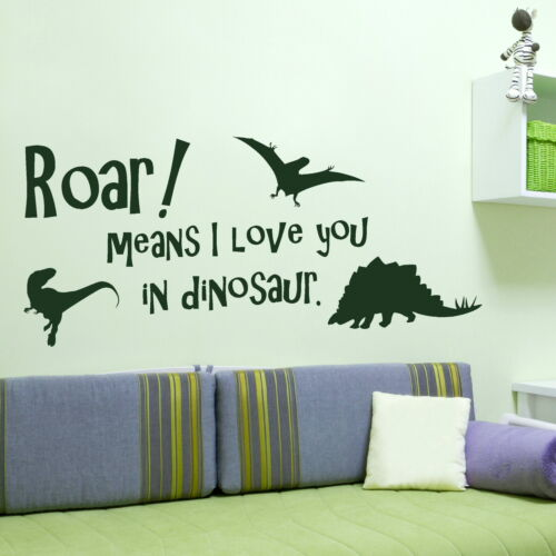 Graphic Stencil X96 Art Decal Transfer Cute Boys Dinosaur Quote Wall Sticker