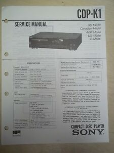 sony service repair manual cdp k1 cd player ebay rh ebay com cd player repairs mansfield notts How a CD Player Works