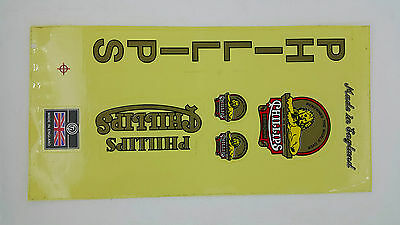 STICKER PHILLIPS VINTAGE BICYCLE DECAL CLASSIC RETRO OLD BIKE 2 PCS SUPPORT DROP
