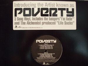 "POVERTY + THE ALCHEMIST - I'M HATIN / LIFE SUCKS (12"")  2002!!!  RARE!!!"
