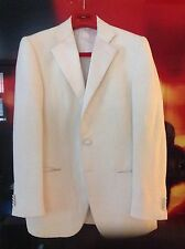 ISAIA - IVORY COLOR DINNER TUXEDO JACKET COAT-SATIN LAPELS - Size 48 EURO