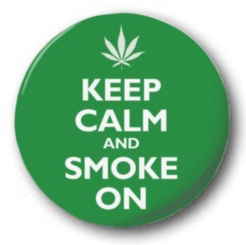 """Novelty Cute Weed Dope 25mm Button Badge 1/"""" CANNABIS"""