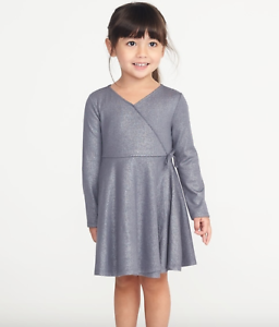 e113d7153dc0f GAP OLD NAVY GIRL Fit & Flare Wrap-Front Dress for Toddler Girls 2T ...