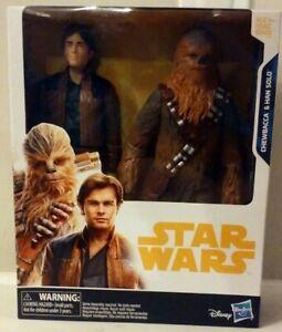 Disney-Star-Wars-Solo-Titan-Hero-Series-Chewbacca-amp-Han-Solo-New-MISB