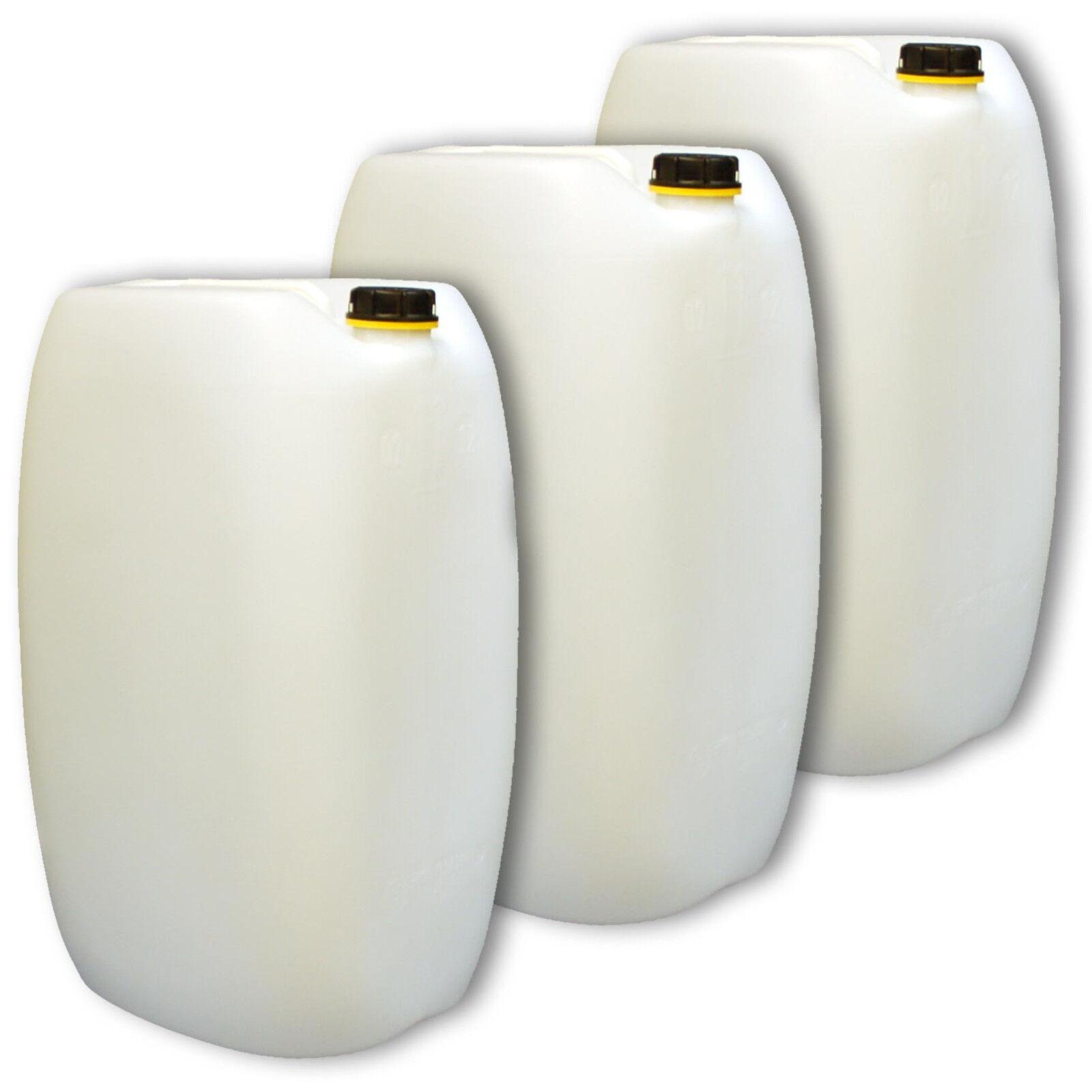 3 Stück 60 Liter Behälter Kanister Wasserkanister Farbe natur weiß 1Griff DIN61