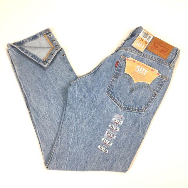 6915519c329 Levis Womens 501 Crop Detail Jeans 24 x 28 Eyelets Eye For An Eye 522980000  $98