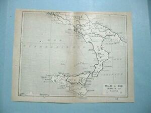 Stampa Cartina Sicilia.Stampa Antica Mappa Italia Meridionale Campania Basilicata Sicilia Puglia 1914 Ebay