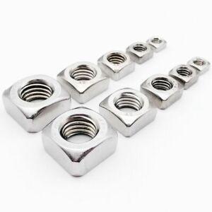 Stainles Steel Metric Threaded Square Nut Foursquare Quadrate M3 M4 M5 M6 M8 M10