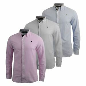 Mens-Oxford-Shirt-Kangol-Long-Sleeve-Lanundered-Casual-Shirt