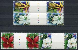 Niuafo-ou-1999-Blumen-Flowers-Blossoms-Blueten-Pflanzen-Stegpaare-352-355-MNH