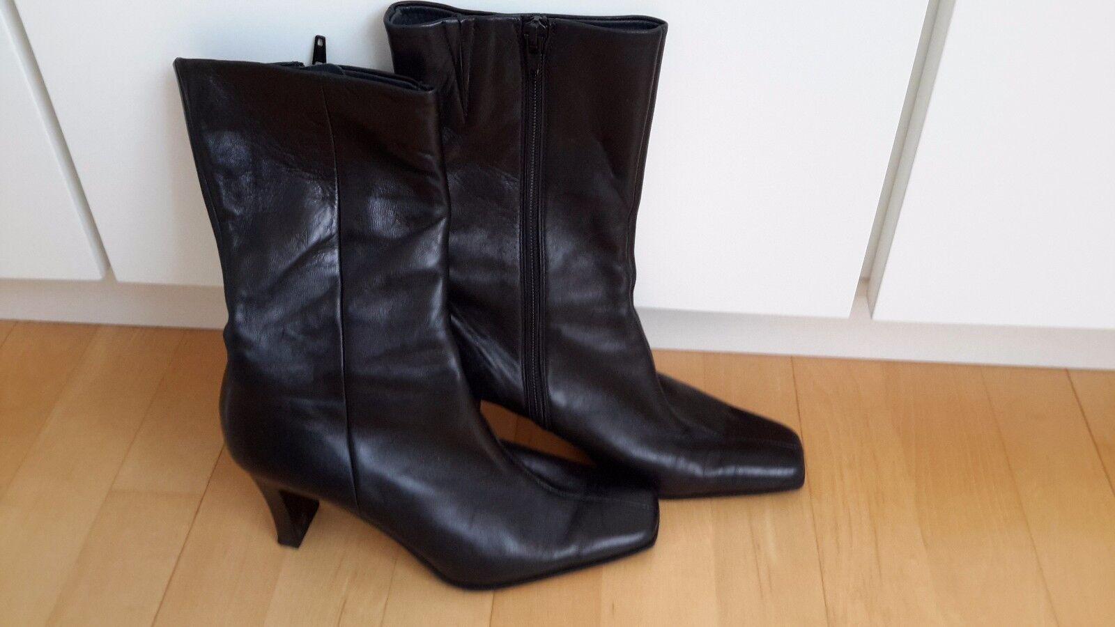 Stiefelette K+S Schuhes 36,5 Damen Gr. 36,5 Schuhes Leder schwarz 92b1ea