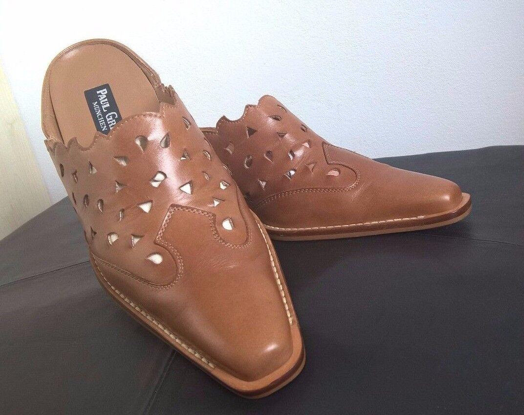Paul Grün NEU Business Schuhe Schuhe Business Pantolette Slipper Leder Gr. 38 7a92fc