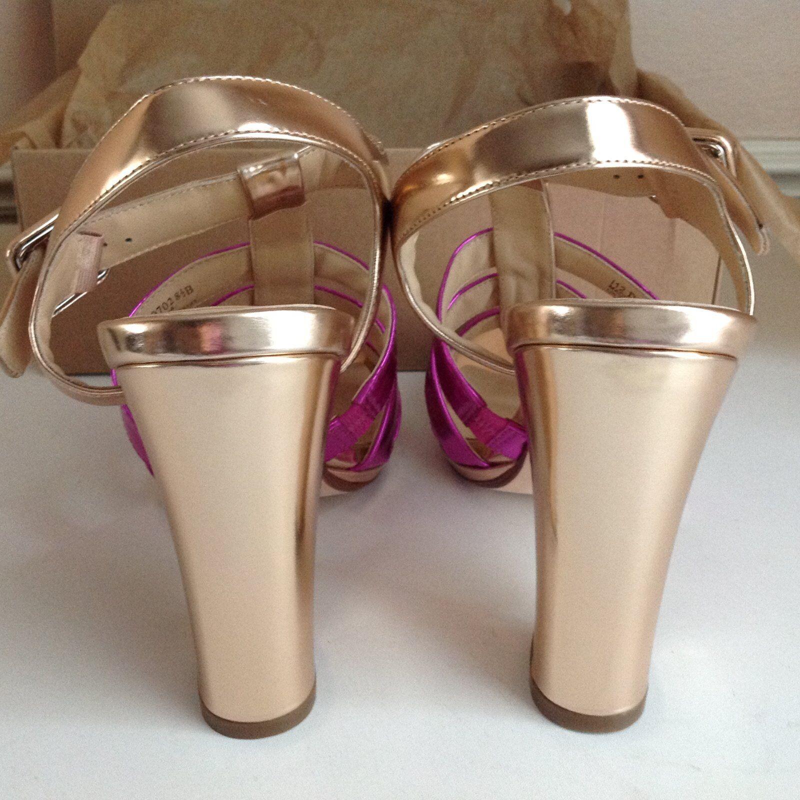 cole cole cole haan bronze fushiaRose  chelsea sangle us8.5 uk6 cuir sandale plate - forme 91eb82