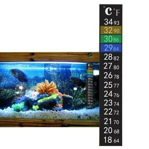 New-Fish-Tank-Aquarium-Thermometer-Temperature-Fahrenheit-Tool-Stick-On-Sticker