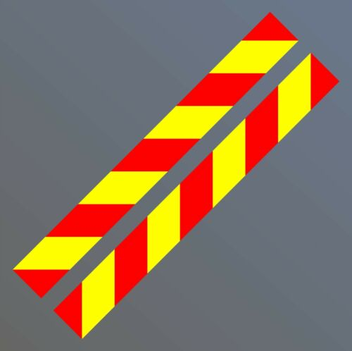 2x Magnetic Side Chevrons Reflective + Fluorescent 900 x 100 mm Sign Van Warning