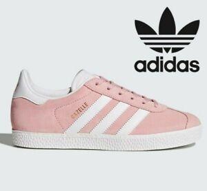 Détails sur 2020 Adidas Originals Gazelle GS ® (Taille UK 4 EUR 36.5) Icey roseor afficher le titre d'origine