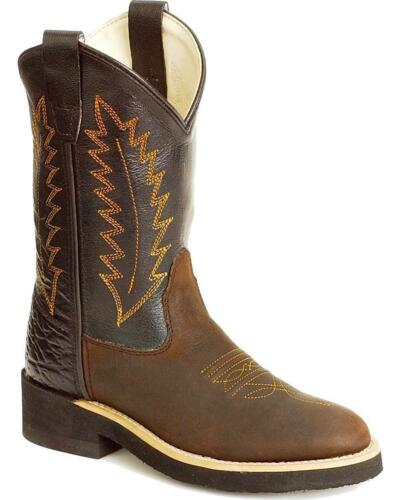 CHILDREN'S OLD WEST ROUND TOE CREPE SOLE WESTERN BOOTS 1606C